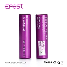 rechargeable lithium ion batteries battery 18650 Efest IMR 18650 3000mah 35A / 18650 2600mah 40A / 18650 3500mah 20A