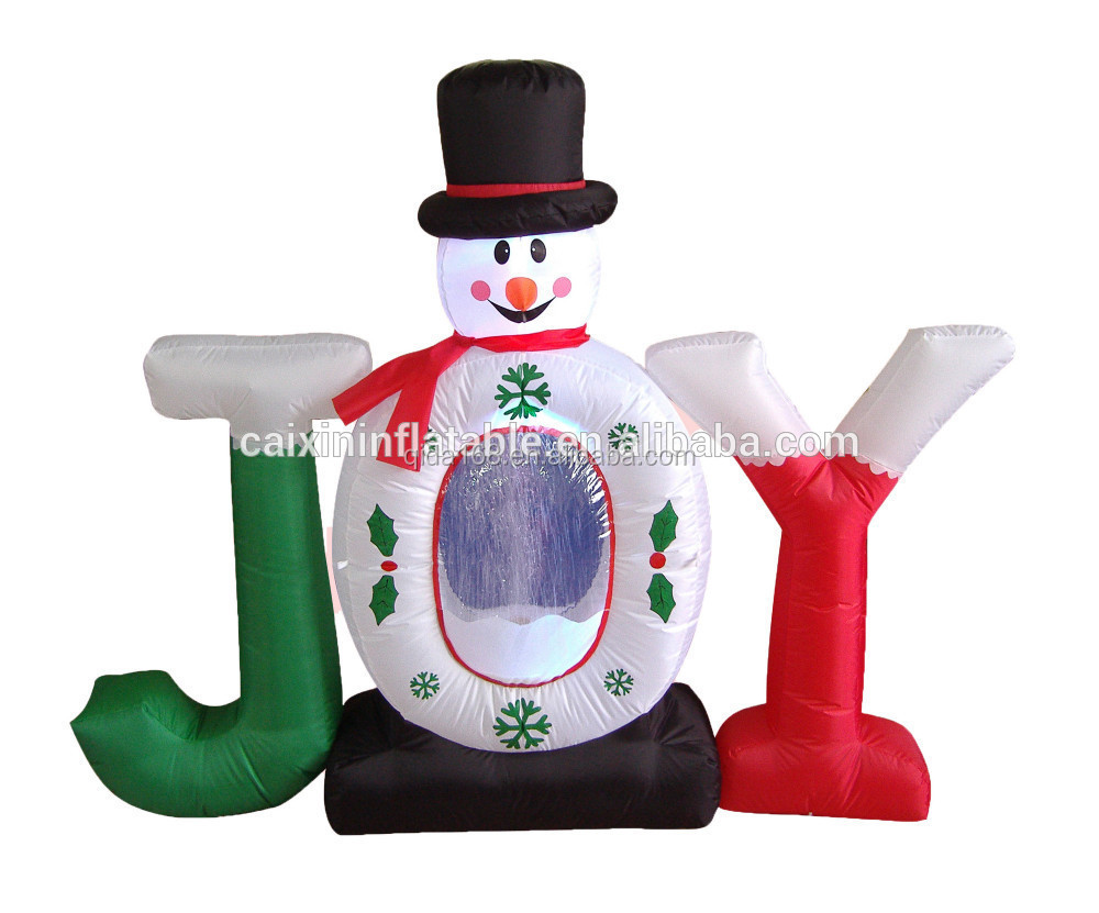 christmas decoration inflatable christmas snowman , inflatable snowman , inflatable air snowman