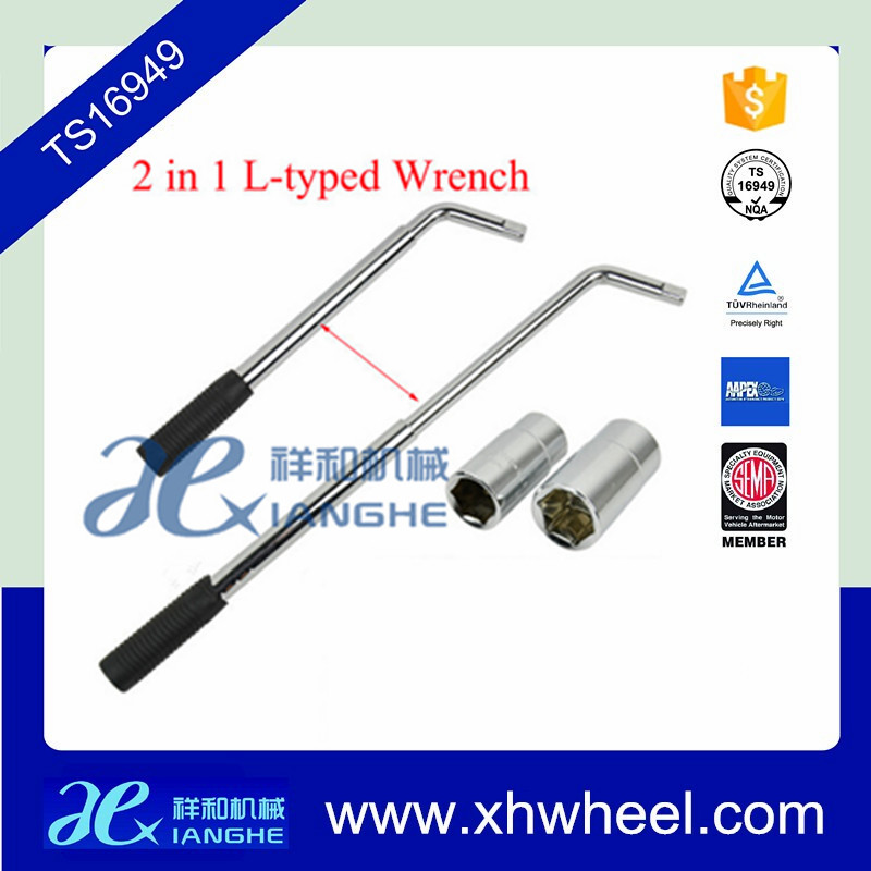New 2 In 1 Flexible Retractable Auto Car Tire Socket Wrench/ L-typed Wheel Wrench