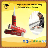 High Flexible Acetic Gray Silicone Glass Sealant