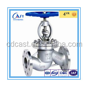 A351 CF3 CF3M CF8 CF8M Stainless steel Straight high temperature globe valves types