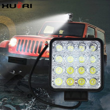 Car Accessories 2018 4 wheels driving light LED work lamps 48w led work light bar 12v 3500 lumens tractor work light