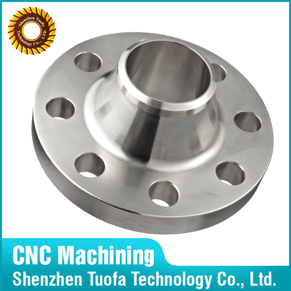 Custom CNC machining parts manufacturer aluminum welding neck flange