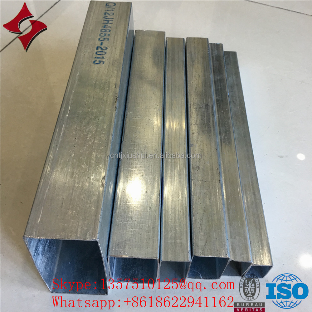 BS1387 hot-dipped galvanized square steel pipe/rectangular steel pipe/tube