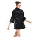 QD70710 Fashionable Winter Women European Mink Coat with Velvet Mink