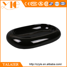 Hot sale solid surface shine small black sink and countertop