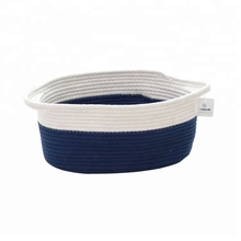 ICEBLUE HD Comfortable Cotton Rope Storage Basket With Handles
