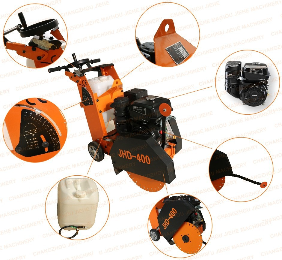 Portable Asphalt Concrete Cutter With Kohler 14HP 180mm Depth and 400mm Blade CE (JHD-400)