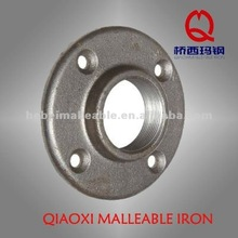 "1-1/4"" QXM ANSI malleable iron pipe fitting GI Round flanges with bolt hole"
