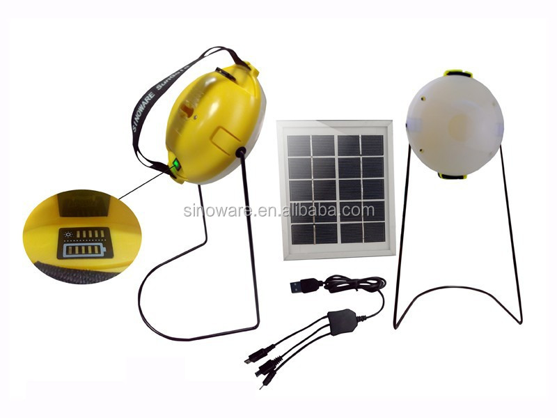 Solar lamp kits with mobile phone charger for home indoor light