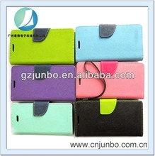 2014 New Design Double Color hand phone leather cover case for samsung galaxy s4 i9500