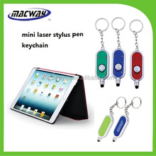 2 In 1 Plastic Laser Light and Touch Screen Stylus Pen Keychain