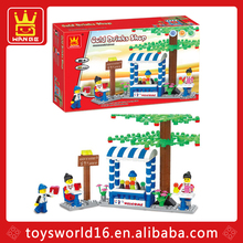 191pcs Cold drinks shop building block educational toys for kids