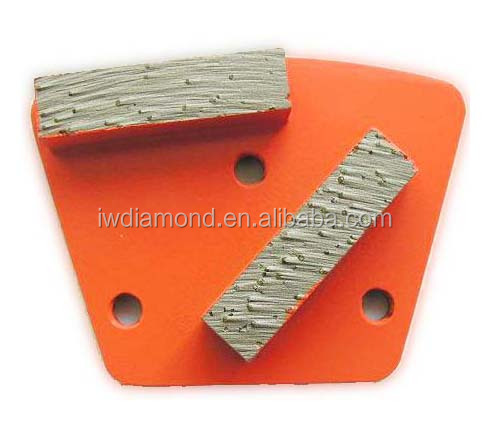 Abrasive block/ Top 2 Segments Trapezoid diamond grinding plates for concrete stone