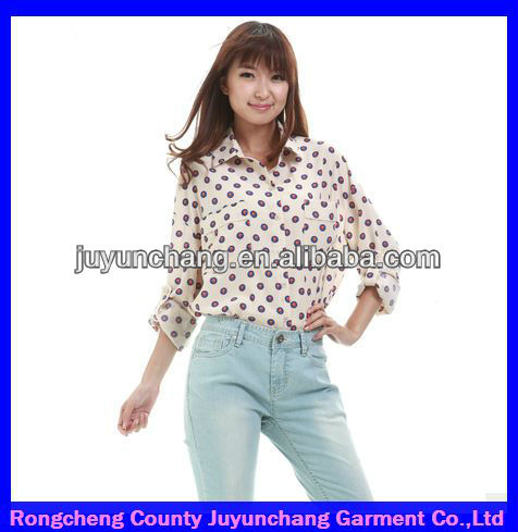 2014 new design wholesale ladies embellished tops