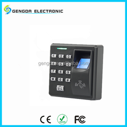 High quality electronic fingerprint recognition swipe card locks with password keypad