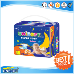 Unisoft hight absorption disposable baby diapers 199
