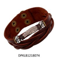 Wholesale Slide Charms PU Leather Bracelet