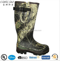 (CH-2590) Latest men's neoprene rubber boots safety camo rain boots
