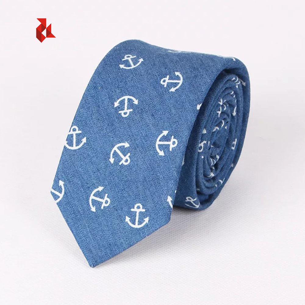 Hot Sale Fashion Cotton Anchor Print Neck <strong>Ties</strong> Men