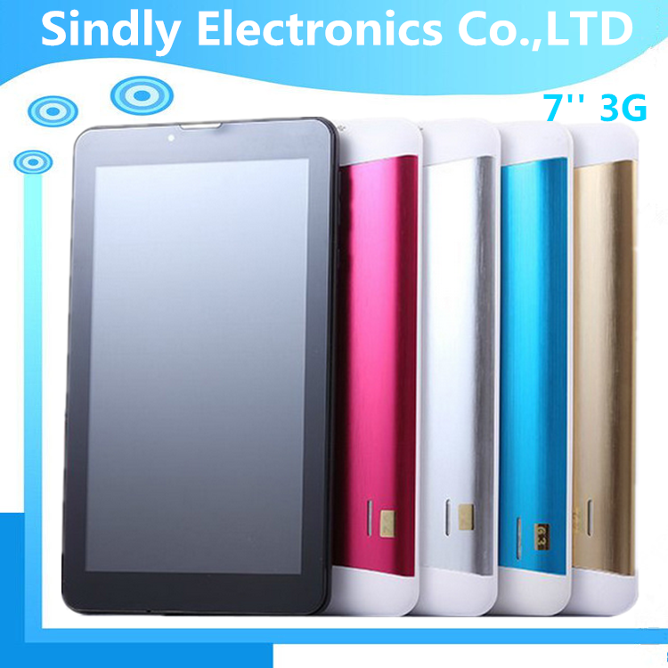 Free Shipping Cheap 7 inch MTK8382 Dual Core 3g Phone Tablet PC 1GB RAM 8GB ROM Android 4.4 GPS