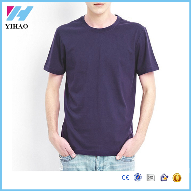 wholesale china Mens Summer tagless blank t shirts no label Round Neck Short Sleeve Tops Tees