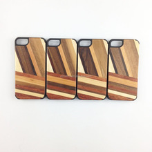 New design pc case for mobile phone, mix wood phone accessory for IPhone 7
