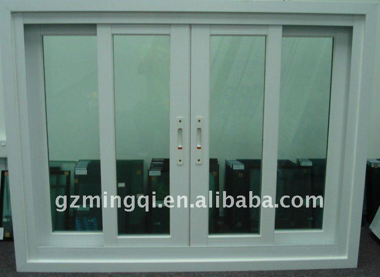 sliding laminate film pvc window factory