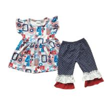 Boutique baby girl clothes 4th of July kids clothes giggle moon remake girls outfit