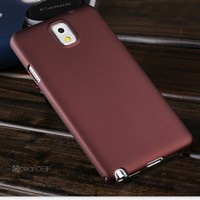 Rubbeized pc hard injection case for samsung galaxy note 3 simple design new product for samsung smartphones