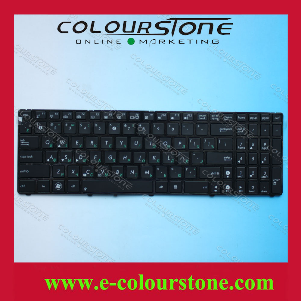 New arrival laptop keyboard with backlit for asus K50 P50 K60 K61 K70 F90 X5D Russian Ru layout Black V090562AS1