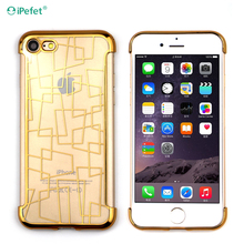 Extremely tough electroplate tpu phone case back cover for iPhone 7