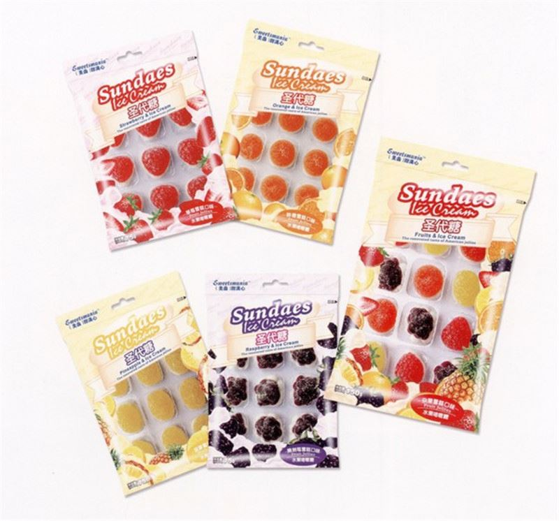 eco-friendly stand up pouch candy bags wholesale