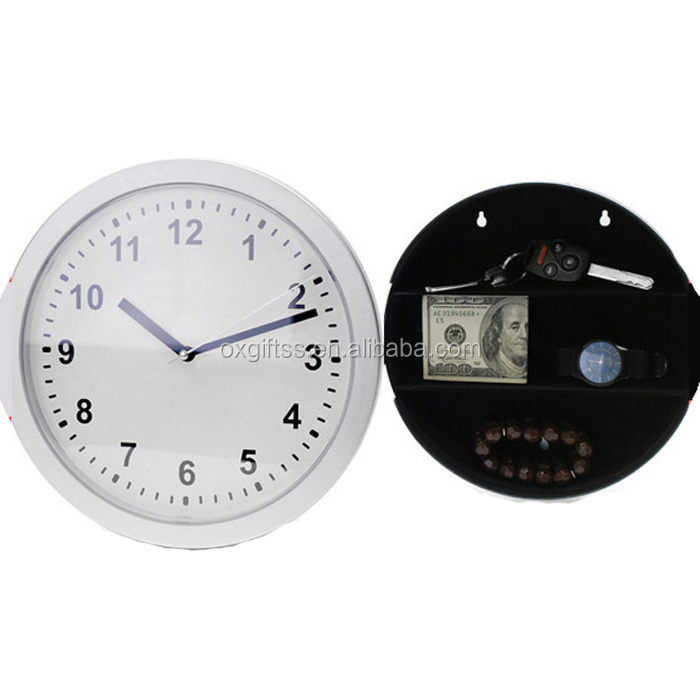 OXGIFT China Supplier Wholesale Manufacturing Factory Price Amazon ABS plastic Storage Box Vault safe Wall Clocks