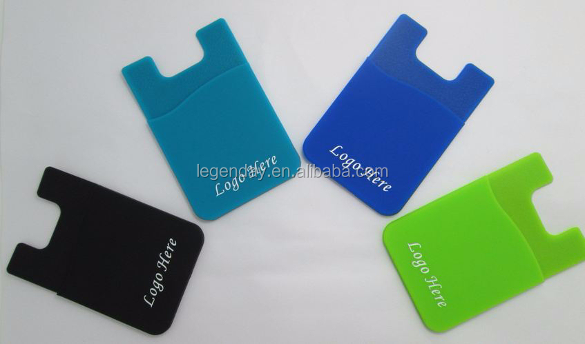 Factory bulk supply OEM design silicone card holder / silicone phone back pouch for promotion