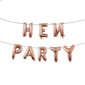 16 Inch Hen Party Foil Balloon Bride To Be Balloons Rose Gold & Gold & Silver Hen Party Balloons Banner