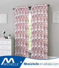 Hot sales sheer fabric fashion design printed rods curtain