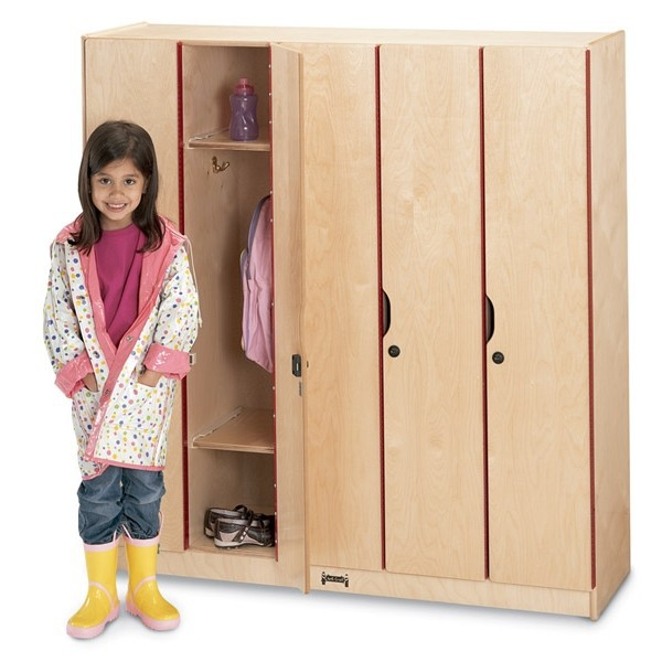 Golden small children clothes storage cabinet with mirror/metal kids toy cabinet