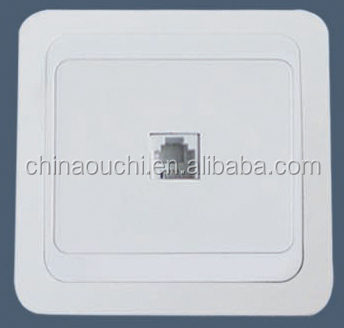 Flush mounted phone numeric socket with high quality