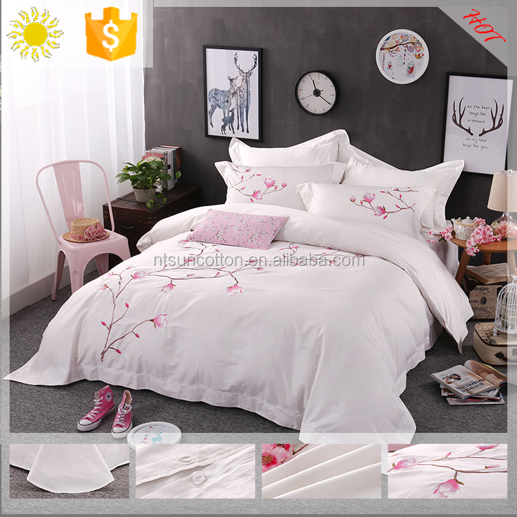 home textile bedding sets /disposable dubai double bed sheet set