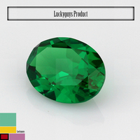 Alibaba express green oval cz stone price, synthetic diamonds making machine rough emeralds price