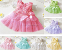 Kids Communion Party Princess Pageant Bridesmaid Wedding Flower Girl Tutu Dress