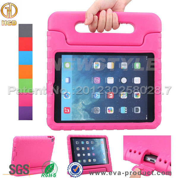 Children safe EVA convertible handle stand case cover for ipad 3 2 4