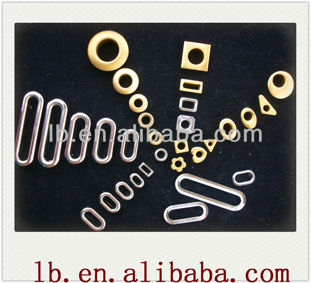 2013 fashion silver/black/gold/brass oval/triangle/round big metal 25/6/10/4mm grommets for draperies wholesale for curtain
