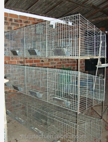 CE 4 layers 24 cells pet cage cage for rabbit Galvanized wire rabbit cage in kenya farm HJ-RC24