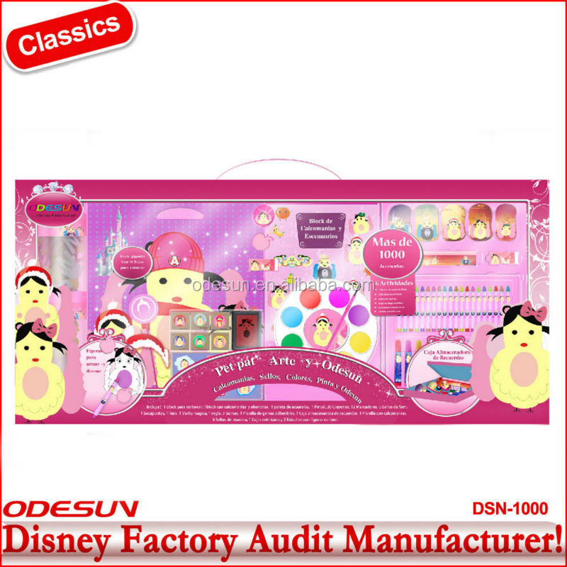 Disney Audited Factory's ningbo stationery set color box packing