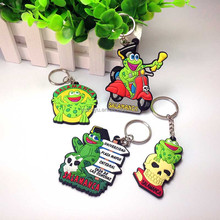 Custom Shaped 3D soft pvc souvenir keychain manufacturers in china