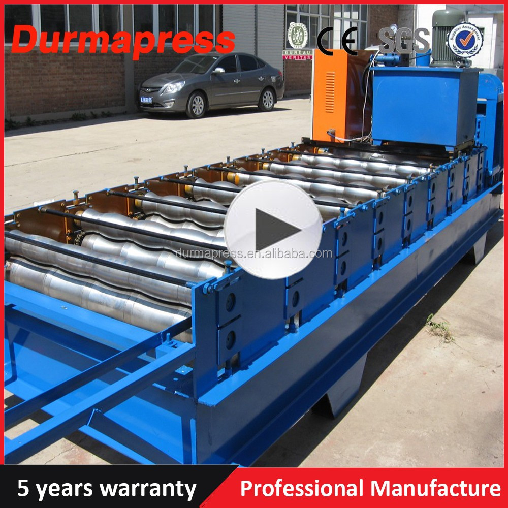 Iron Sheet Roll Forming Line Corrugated Double Liner Metal Roof Tile Making Machine
