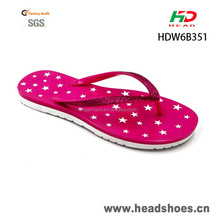 Narrow shining strap ladies flat pvc air blown cheap beach flip flops