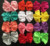 "5"" Large Thick Chiffon Fabric Hair Bows Tie Wholesale"